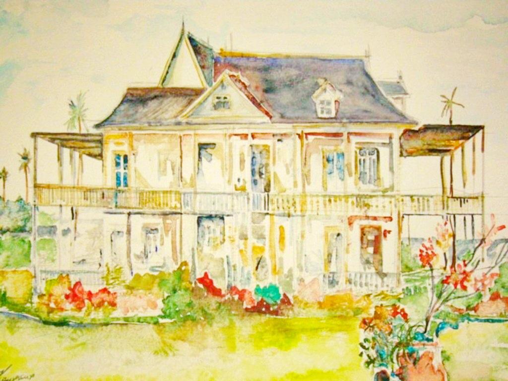 aquarelle-4-hôtel-domaine-st-aubin-martinique
